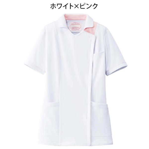 白衣 女性 病院 クリニック 看護師 介護 ライトジャケット nursery-y 06