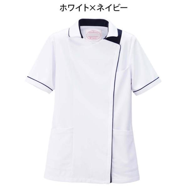 白衣 女性 病院 クリニック 看護師 介護 ライトジャケット nursery-y 09