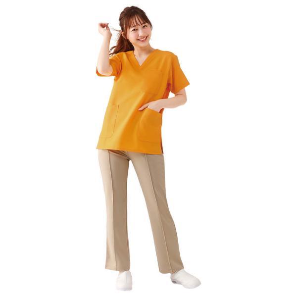 白衣 男性 女性 男女兼用 病院 クリニック 看護師 ナースリースクラブ(さらりタッチ)|nursery-y|07