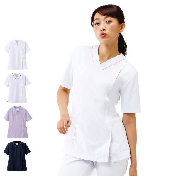医療 ナース 看護 白衣 女性 病院 衿なし マルチジャケット(サイドジップ)  nursery-y