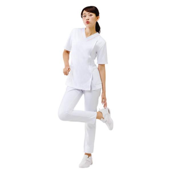 医療 ナース 看護 白衣 女性 病院 衿なし マルチジャケット(サイドジップ)  nursery-y 02