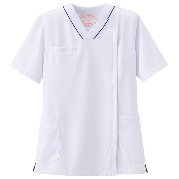医療 ナース 看護 白衣 女性 病院 衿なし マルチジャケット(サイドジップ)  nursery-y 03