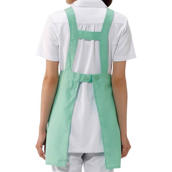 女性 ナース 看護師 介護士 病院 クリニック ヘルパー ケアウェア NEWセミミドル丈エプロン(さらりタッチ) M-L|nursery-y|05