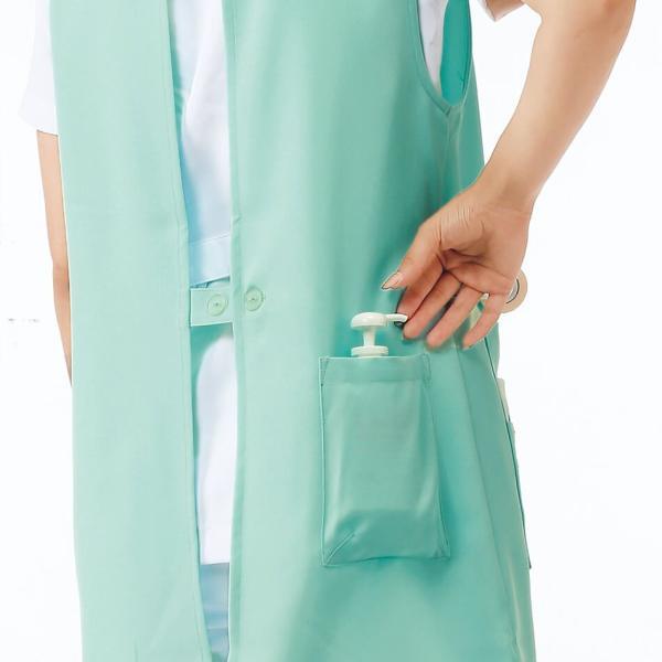 ナース エプロン 介護 病院 保育士 看護師 歯科衛生士 NEWチュニック型エプロン(さらりタッチ) M-L|nursery-y|06