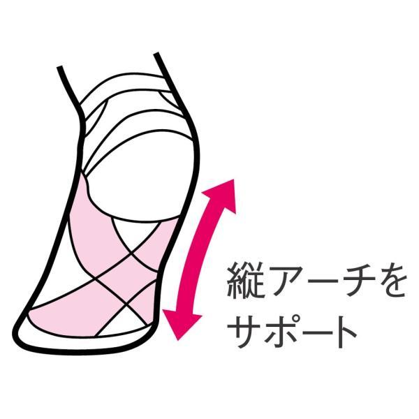 白衣 女性 靴下 アーチサポート着圧ソックス(1足組)|nursery-y|03