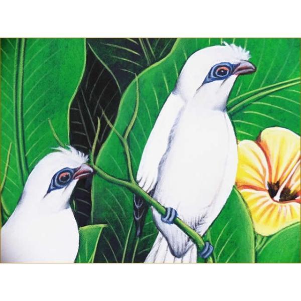 バリ絵画 アジアン/バリ絵画 花鳥風月 プンゴセカンMP-003 nusa 02