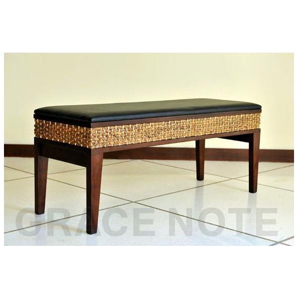 アジアン家具 椅子 グレイスノート ウォーターヒヤシンス ベンチ|nusa|02