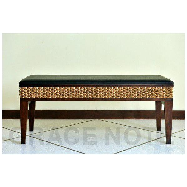 アジアン家具 椅子 グレイスノート ウォーターヒヤシンス ベンチ|nusa|03