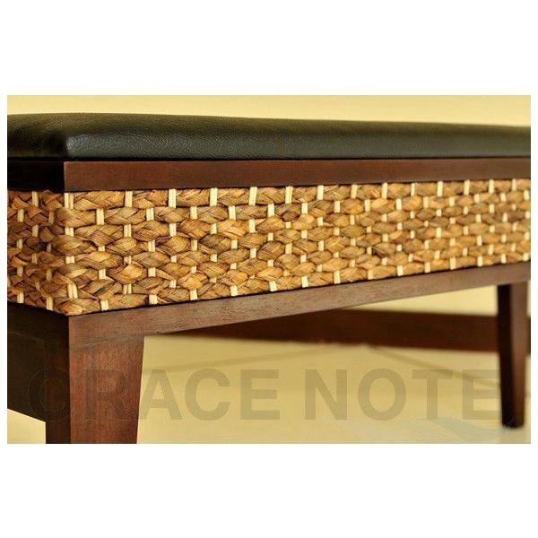 アジアン家具 椅子 グレイスノート ウォーターヒヤシンス ベンチ|nusa|04