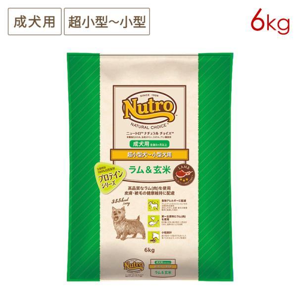 (即日)ニュートロナチュラルチョイスプロテインシリーズ超小型犬〜小型犬用成犬用ラム&玄米 6kg 正規品ND369