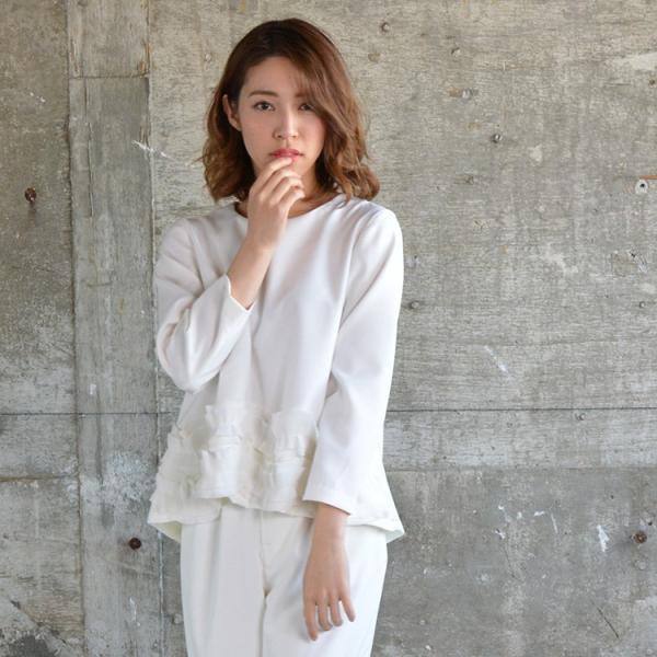 裾ラウンドプリーツトップス プリーツ きれいめ ホワイト レディース 2018 春 夏 20代 30代 40代|nuu|09