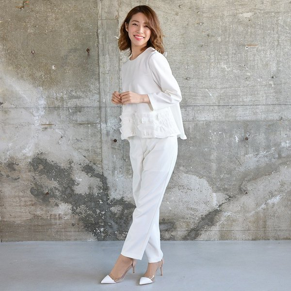 裾ラウンドプリーツトップス プリーツ きれいめ ホワイト レディース 2018 春 夏 20代 30代 40代|nuu|10