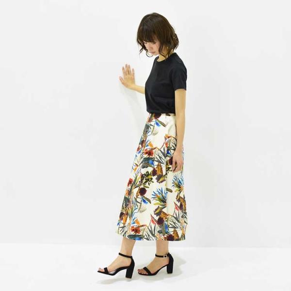 日本製ボタニカルプリントスカート 20代 30代 花柄 トレンド 上質コットン100% エレガント 女性らしい 大人シルエット |nuu|11