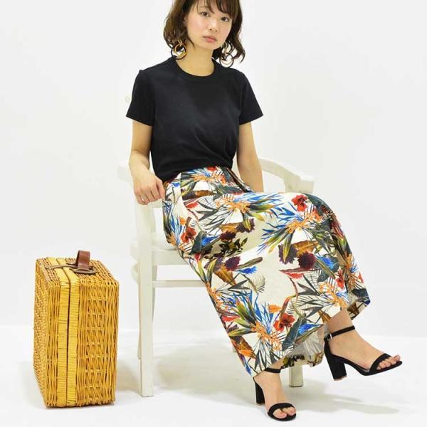 日本製ボタニカルプリントスカート 20代 30代 花柄 トレンド 上質コットン100% エレガント 女性らしい 大人シルエット |nuu|12