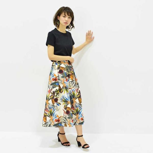 日本製ボタニカルプリントスカート 20代 30代 花柄 トレンド 上質コットン100% エレガント 女性らしい 大人シルエット |nuu|14