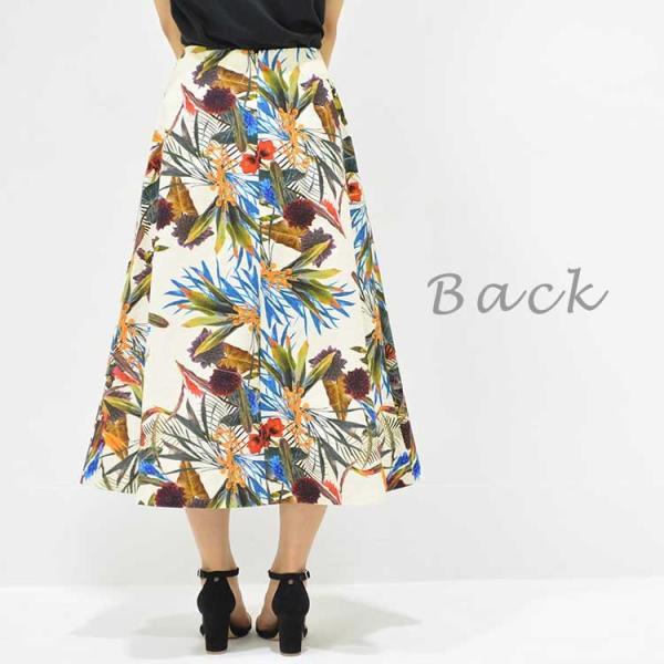 日本製ボタニカルプリントスカート 20代 30代 花柄 トレンド 上質コットン100% エレガント 女性らしい 大人シルエット |nuu|08