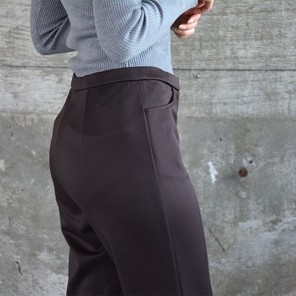 ソフトスリムパンツ ゆったり 大きなサイズ OL 脚長 通勤 ミセス シンプル オフィス 主婦 nuu 11