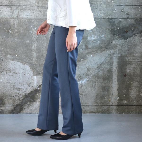 ソフトスリムパンツ ゆったり 大きなサイズ OL 脚長 通勤 ミセス シンプル オフィス 主婦 nuu 12