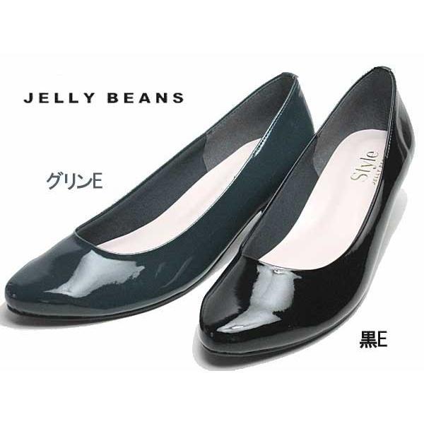 ジェリービーンズ JELLY BEANS アーモンドトゥエナメルパンプス レディース 靴|nws