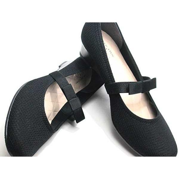 ジェリービーンズ JELLY BEANS ミニリボンベルトパンプス 黒 レディース 靴