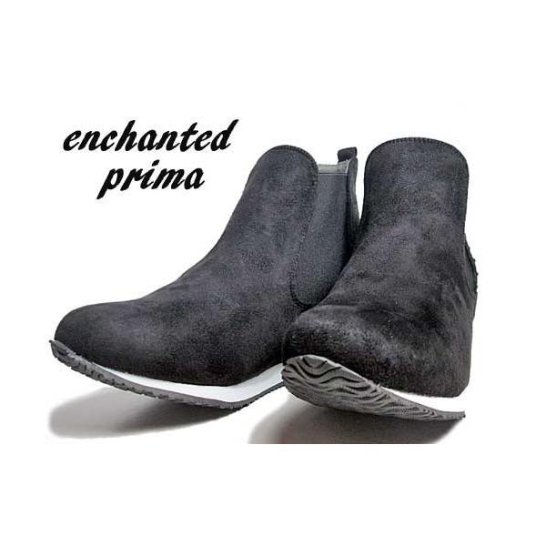 エンチャンテッド プリマ enchanted prima サイドゴアショートブーツ ブラック レディース・靴