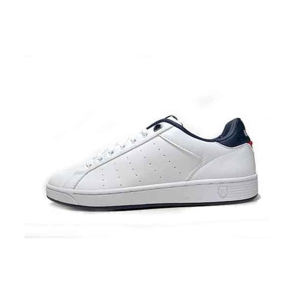 ケースイス K・SWISS クリーンコート S コンフォート スニーカー ホワイトネイビーレッド メンズ レディース 靴|nws|02
