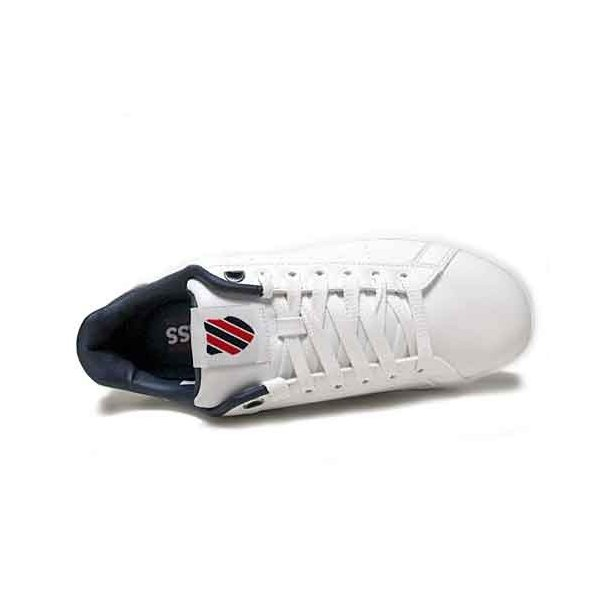 ケースイス K・SWISS クリーンコート S コンフォート スニーカー ホワイトネイビーレッド メンズ レディース 靴|nws|03
