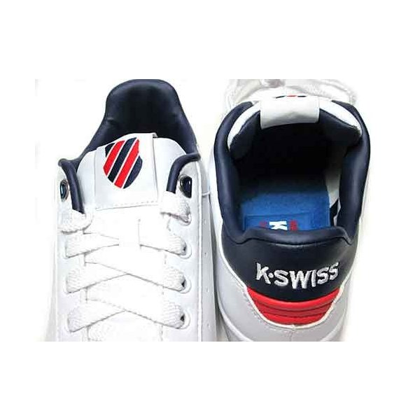 ケースイス K・SWISS クリーンコート S コンフォート スニーカー ホワイトネイビーレッド メンズ レディース 靴|nws|05