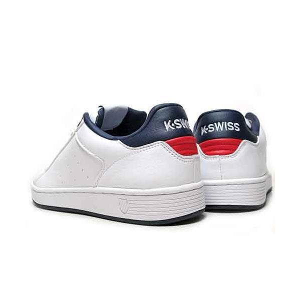 ケースイス K・SWISS クリーンコート S コンフォート スニーカー ホワイトネイビーレッド メンズ レディース 靴|nws|06