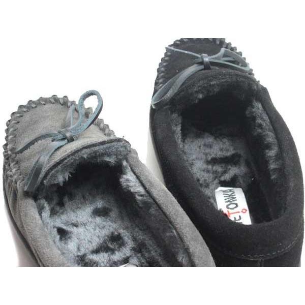 ミネトンカ MINNETONKA CADENCE CLASSIC TRAPPER ボアモカシンシューズ レディース 靴
