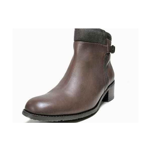 マドラスモデロ madras MODELLO ベルトデザインショートブーツ ダークブラウン レディース・靴