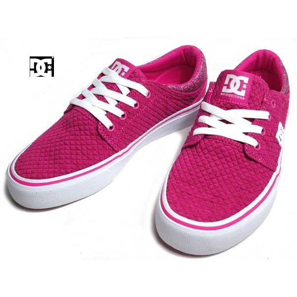 ディーシーシューズ DC SHOES W'S TRASE TX SE ピンクホワイト スニーカー レディース 靴|nws