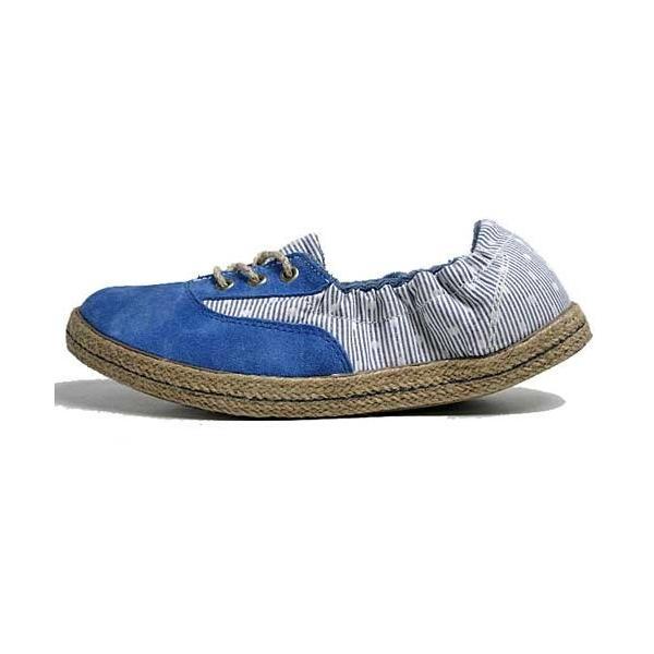 インディアン Indian ローカットシューズ ジュート巻き バレエシューズタイプ スニーカー ブルー/ドット レディース 靴 nws