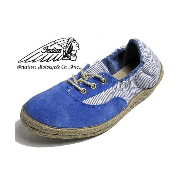 インディアン Indian ローカットシューズ ジュート巻き バレエシューズタイプ スニーカー ブルー/ドット レディース 靴 nws 02