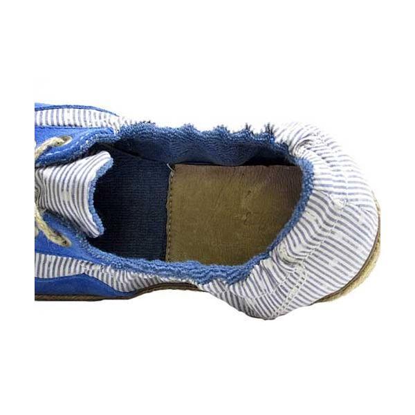 インディアン Indian ローカットシューズ ジュート巻き バレエシューズタイプ スニーカー ブルー/ドット レディース 靴 nws 03