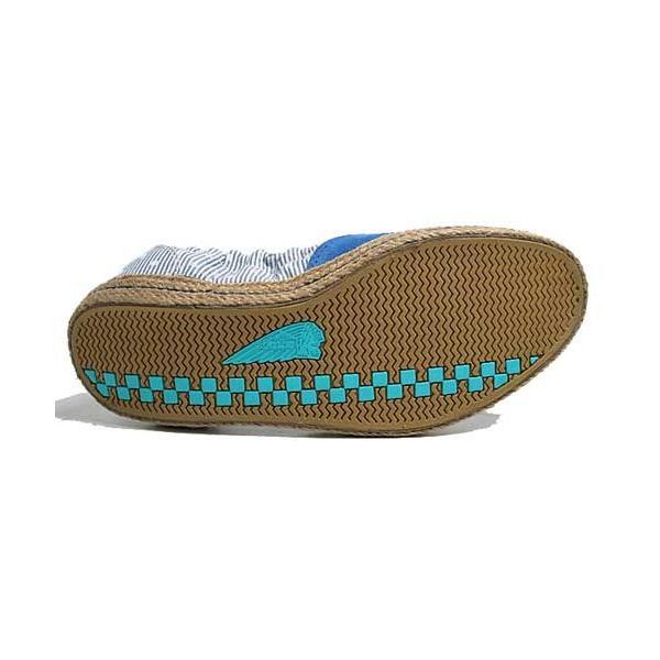 インディアン Indian ローカットシューズ ジュート巻き バレエシューズタイプ スニーカー ブルー/ドット レディース 靴 nws 04