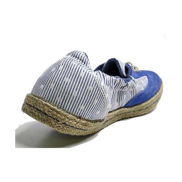 インディアン Indian ローカットシューズ ジュート巻き バレエシューズタイプ スニーカー ブルー/ドット レディース 靴 nws 05