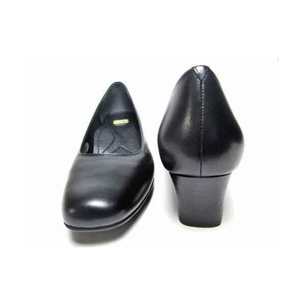 イング ing 本革スクエアトゥパンプス ブラック レディース・靴