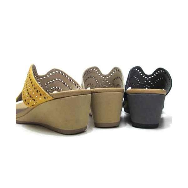 モードカオリ MODE KAORI ウエッジヒールミュール レディース・靴