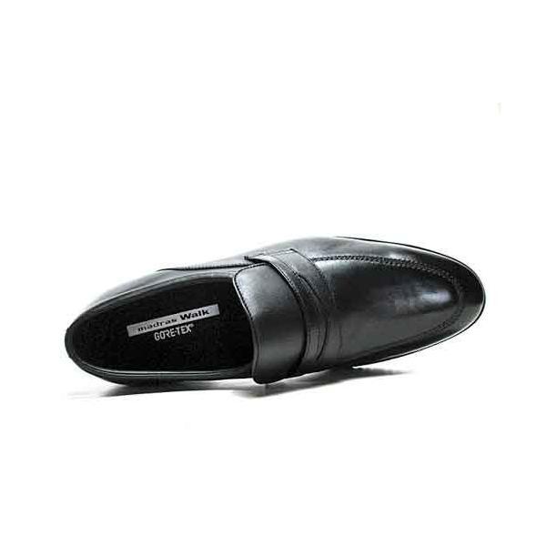 マドラスウォーク madras Walk ゴアテックスフットウェア スリッポン ビジネスシューズ ブラック メンズ 靴|nws|04