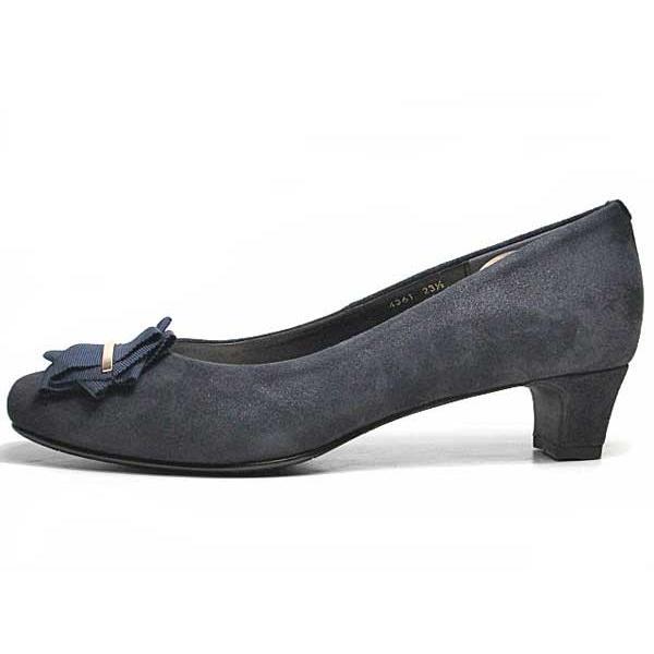 ピッティ Pitti スクエアリボントゥパンプス レディース 靴