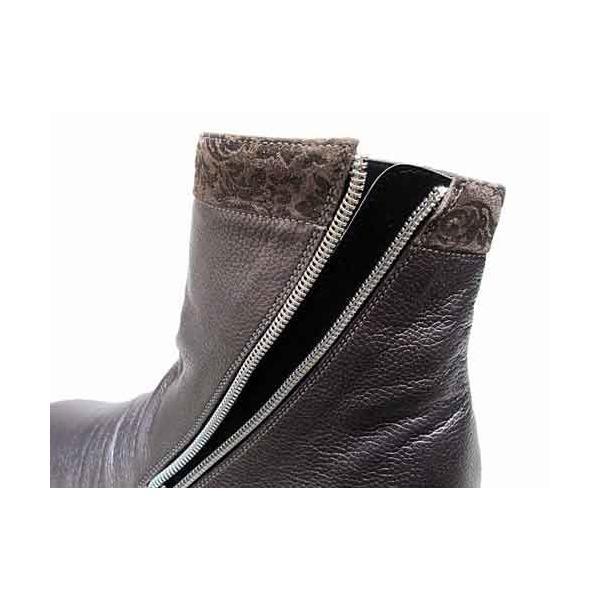 サラマンダー SALAMANDER サイドファスナーショートブーツ ラベンダー レディース・靴