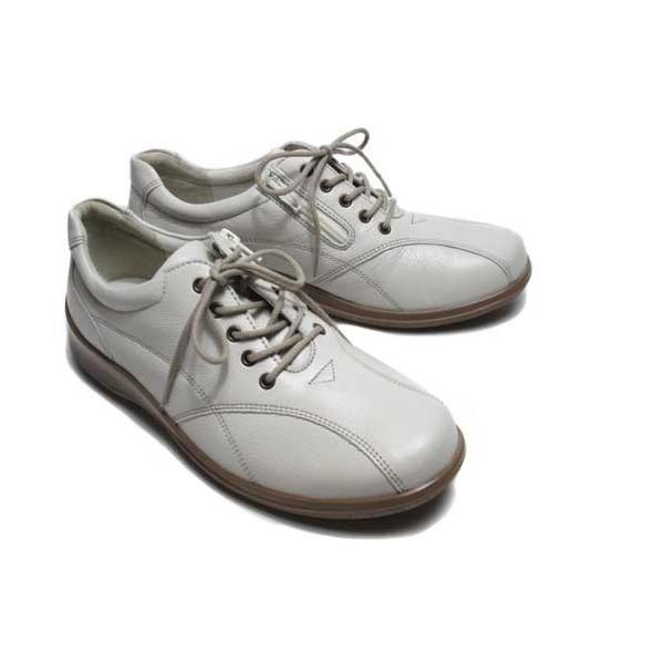 アキレスソルボ Achilles SORBO コンフォート  カジュアルシューズ サイドファスナー付 オフホワイト レディース 靴