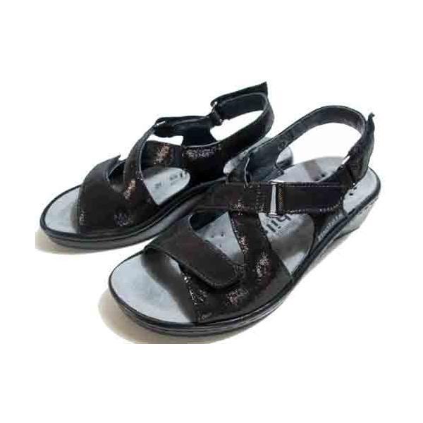 メフィスト MEPHISTO UMBERTA コンフォートバックバンドサンダル ダークグレー レディース・靴|nws