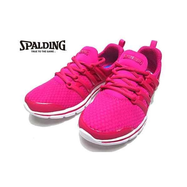 スポルディング SPALDING ふわふわインソール レースアップシューズ 3E スニーカー ピンク レディース 靴 nws