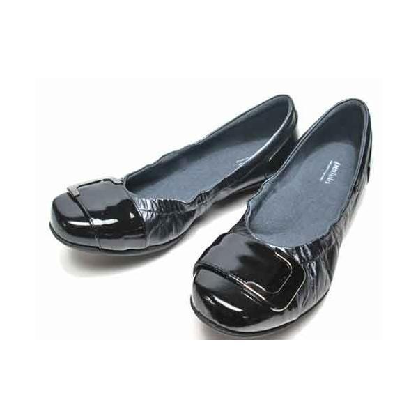 アシックス ペダラ  asics Pedala バックルデザインウォーキングパンプス ブラック レディース・靴