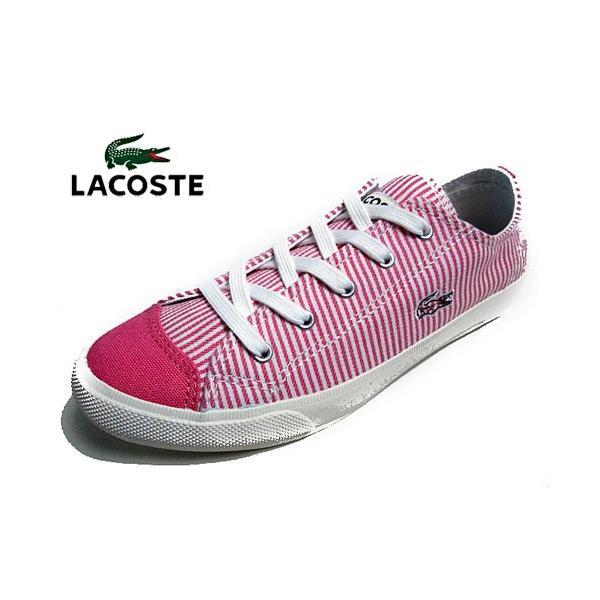 ラコステ LACOSTE フェアバーン W6 キャンバススニーカー ピンク レディース 靴|nws|02