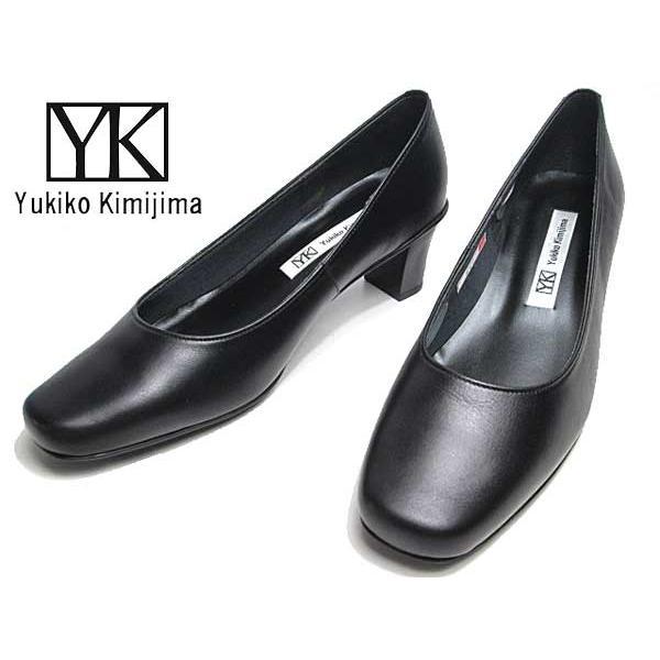 ユキコ キミジマ Yukiko Kimijima 665 プレーントゥパンプス ブラック レディース 靴|nws