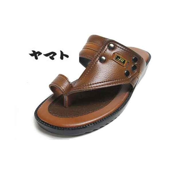 ヤマトサンダル デラックス 滑り止め中敷き ベンハーサンダル 金茶 メンズ 靴|nws|02