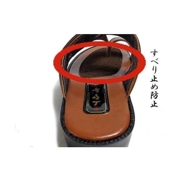 ヤマトサンダル デラックス 滑り止め中敷き ベンハーサンダル 金茶 メンズ 靴|nws|05